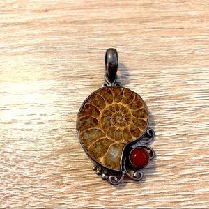 Ammonite Silver 925 Pendant